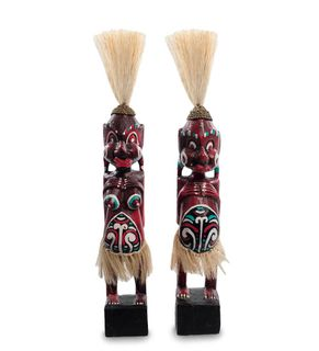 "Wooden statuette ""Asmat red"" 33 cm"