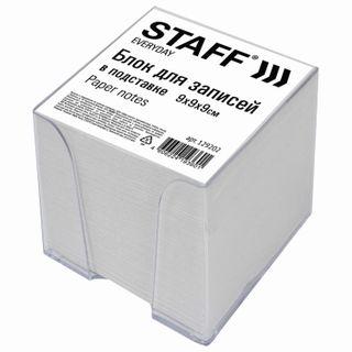 Unit for records STAFF in the stand transparent cube 9х9х9 cm, white, white 70-80%