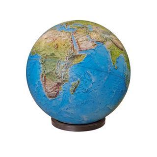 A large physical desktop globe