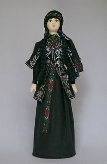 Doll gift porcelain. The Princess in the Georgian national costume.