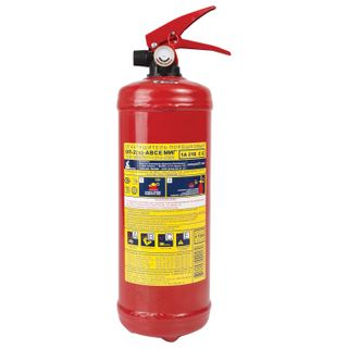 MIG / 01 / Powder fire extinguisher OP-2, ABCE (solid, liquid, gaseous substances, electrical installations)