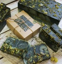 Handmade bar soap with herbs Immortelle 450 g