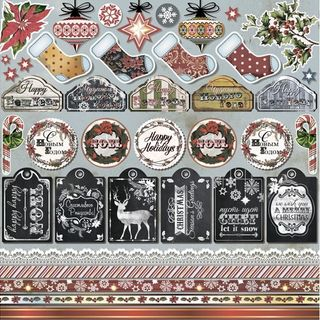"Paper for scrapbooking ""Christmas Melodies"" Decor ""Craft Premier"""