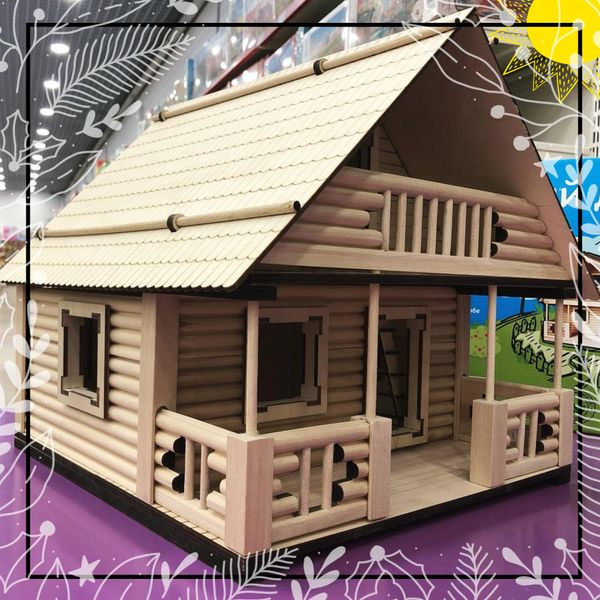 EcoHouseKids - designer toy house and dollhouse 2in1