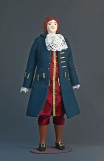 Doll gift porcelain. Petr1 in everyday costume.