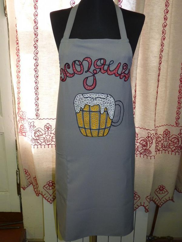 Apron male Karelian patterns with the inscription