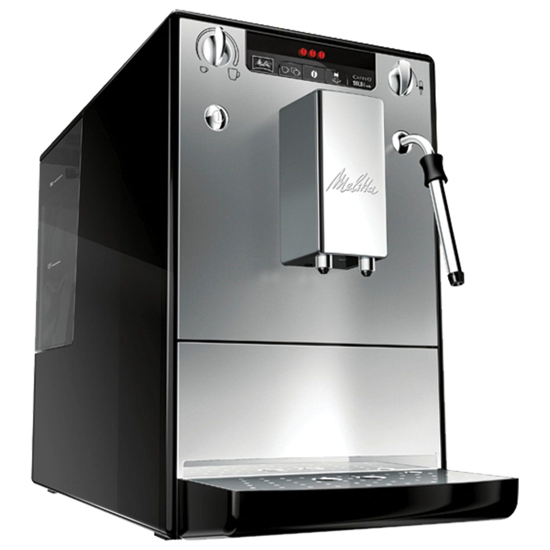 MELITTA CAFFEO SOLO'MILK E 953-102, 1400 W, 1.2 litres, 125g grain container, hand capuchin, silver