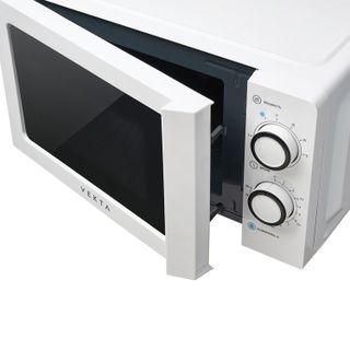VEKTA MS720CHW microwave oven, 20 litre volume, 700 watt power, mechanical control, timer, white
