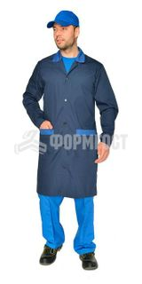 "Dressing gown ""Prestige"" for men, blue"