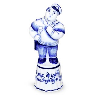 Travnicek Policeman 2nd grade, Gzhel Porcelain factory