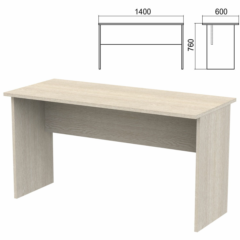 "Table written ""Argo,"" 1400x600x760 mm, ash shimo"