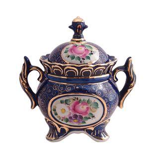 The candy bowl a Festive overglaze painting, Gzhel Porcelain factory