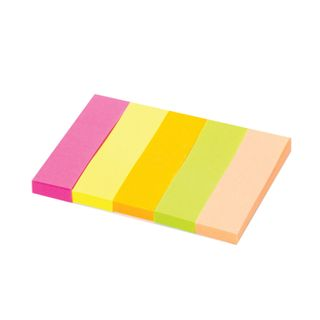 Bookmark adhesive STAFF, NEON paper, 50х14 mm, 5 colors x 50 sheets