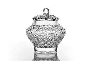"Crystal vase for sugar with lid ""Amelie"""