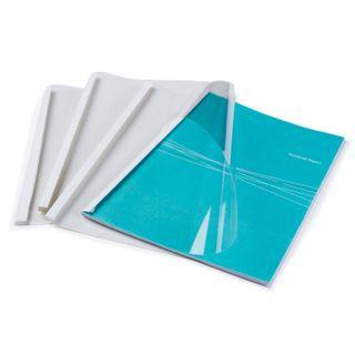Thermal binding covers, A4, SET 100 pcs., 8 mm, 61-80 sh., Transparent PVC top, cardboard bottom, FELLOWES
