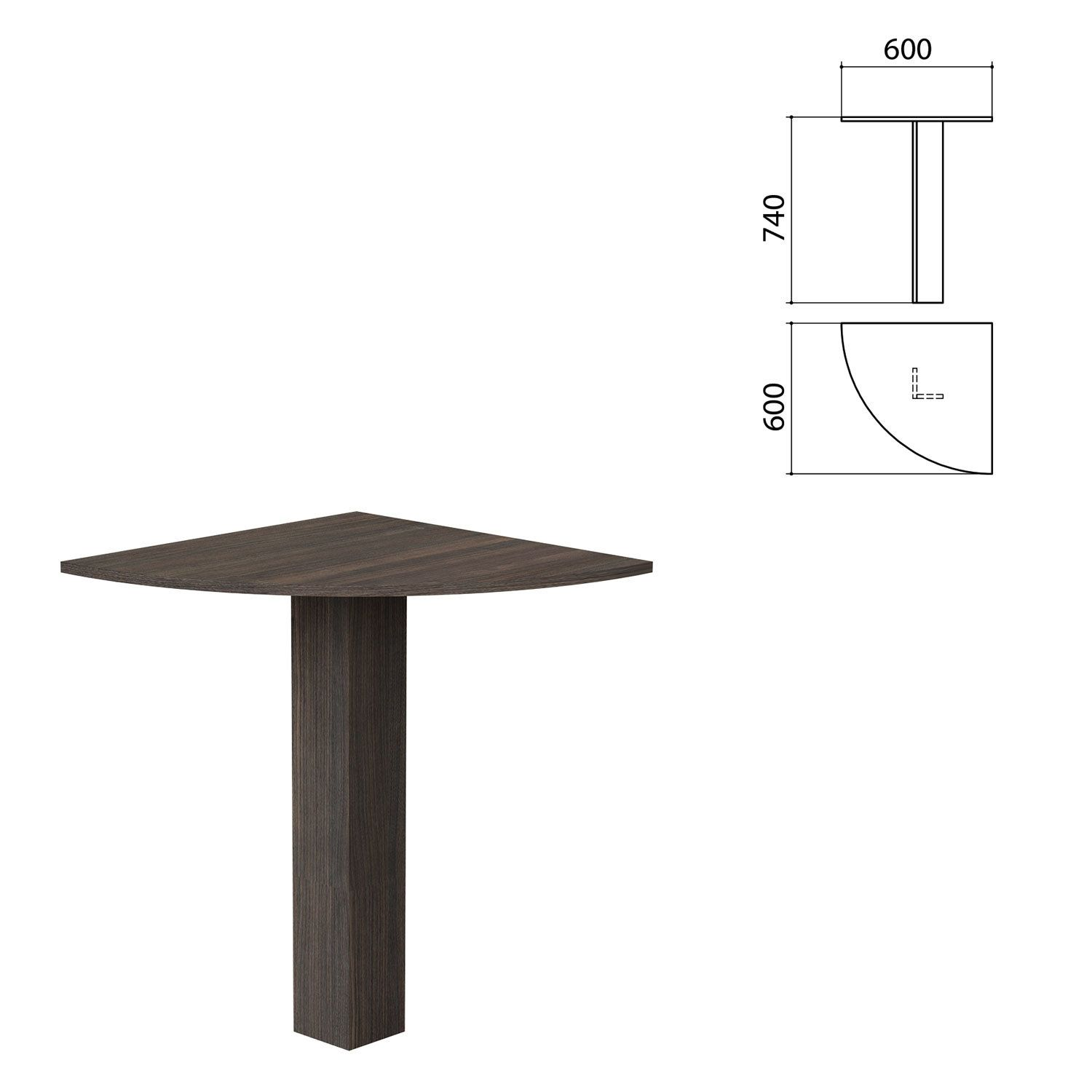 "Table corner ""Budget"" 600 x600 x740 mm, toledo oak"