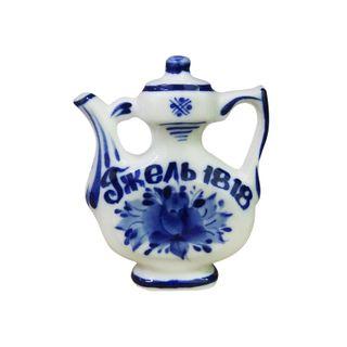 Souvenir Handmade cobalt Gzhel Porcelain factory
