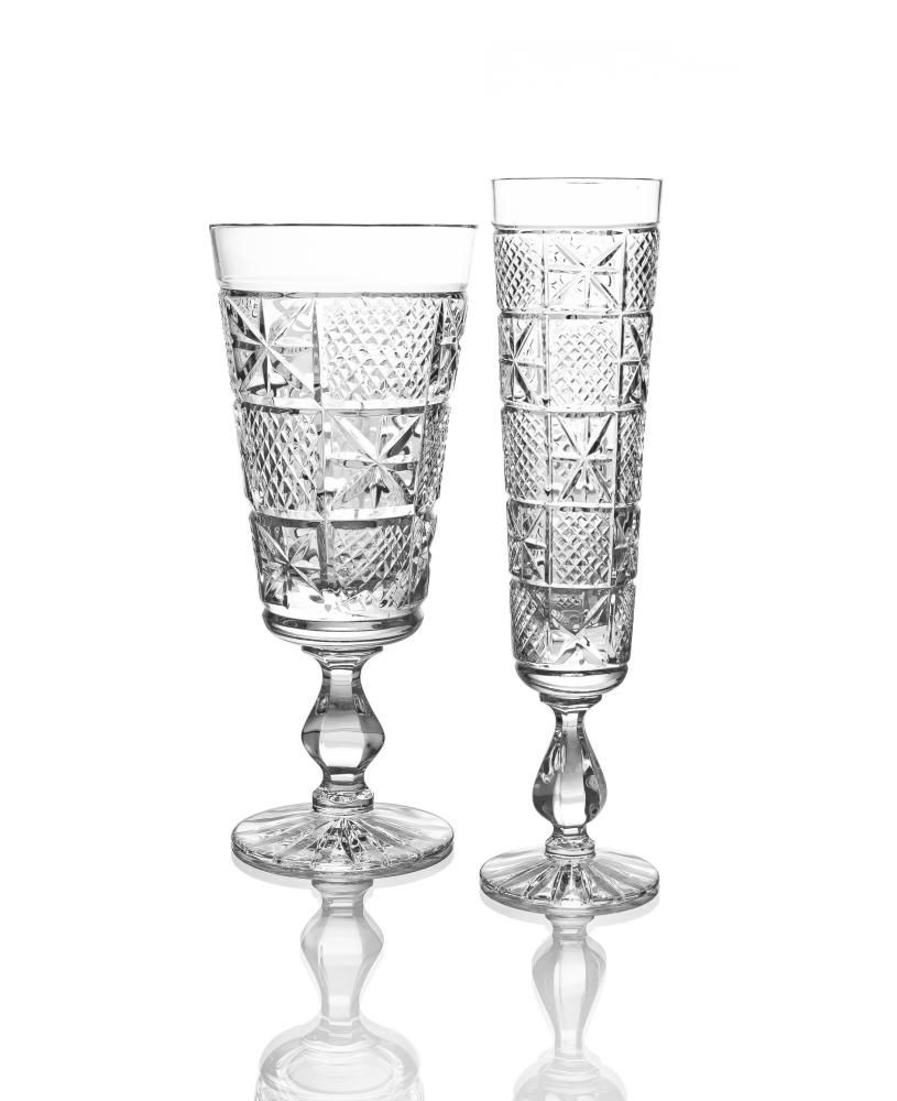 """Set of crystal glasses """"Lubok"""" 6 pieces"""