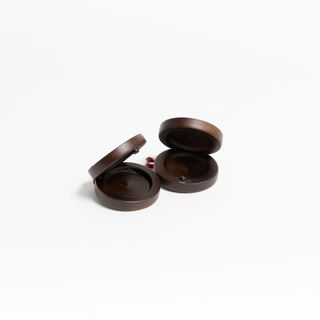 Wooden castanets tinted