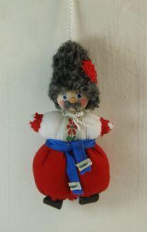 Doll-poteshka gift pendant. Ukrainian. Wood, textiles.