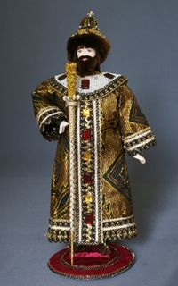 Doll gift porcelain. The Royal ceremonial attire. Russia 16-17 centuries.