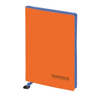 Diary for 1-11 classes, leathers (light), embossment, lysse with schild, 48 sheets, ALT, MERCURY Orange