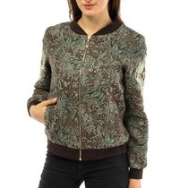 Jacket women's 'Renaissance' green with gold embroidery