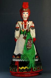 Doll gift porcelain. Voronezh lips. Women's festive folk costume. The 2nd half of the 19th century.