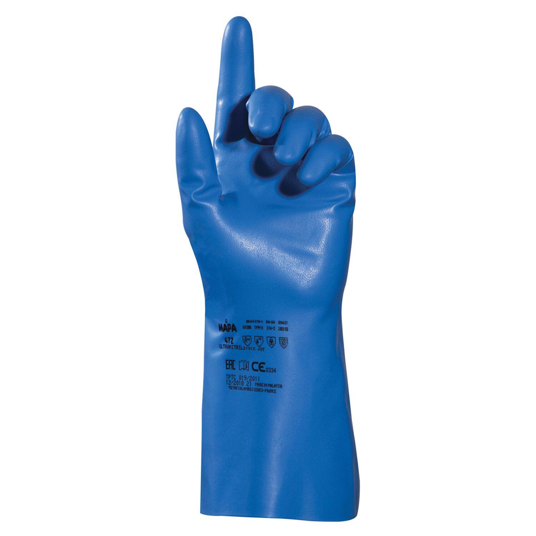 MAPA / Nitrile gloves Optinit / Ultranitril 472, size 9 (L), blue, SET of 10 pairs
