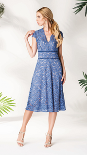 Dress lace blue