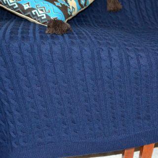 Plaid pigtail, color: blue, TRICARDO, 120х170