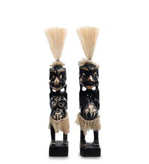 """Wooden statuette """"Asmat"""" 25 cm"""
