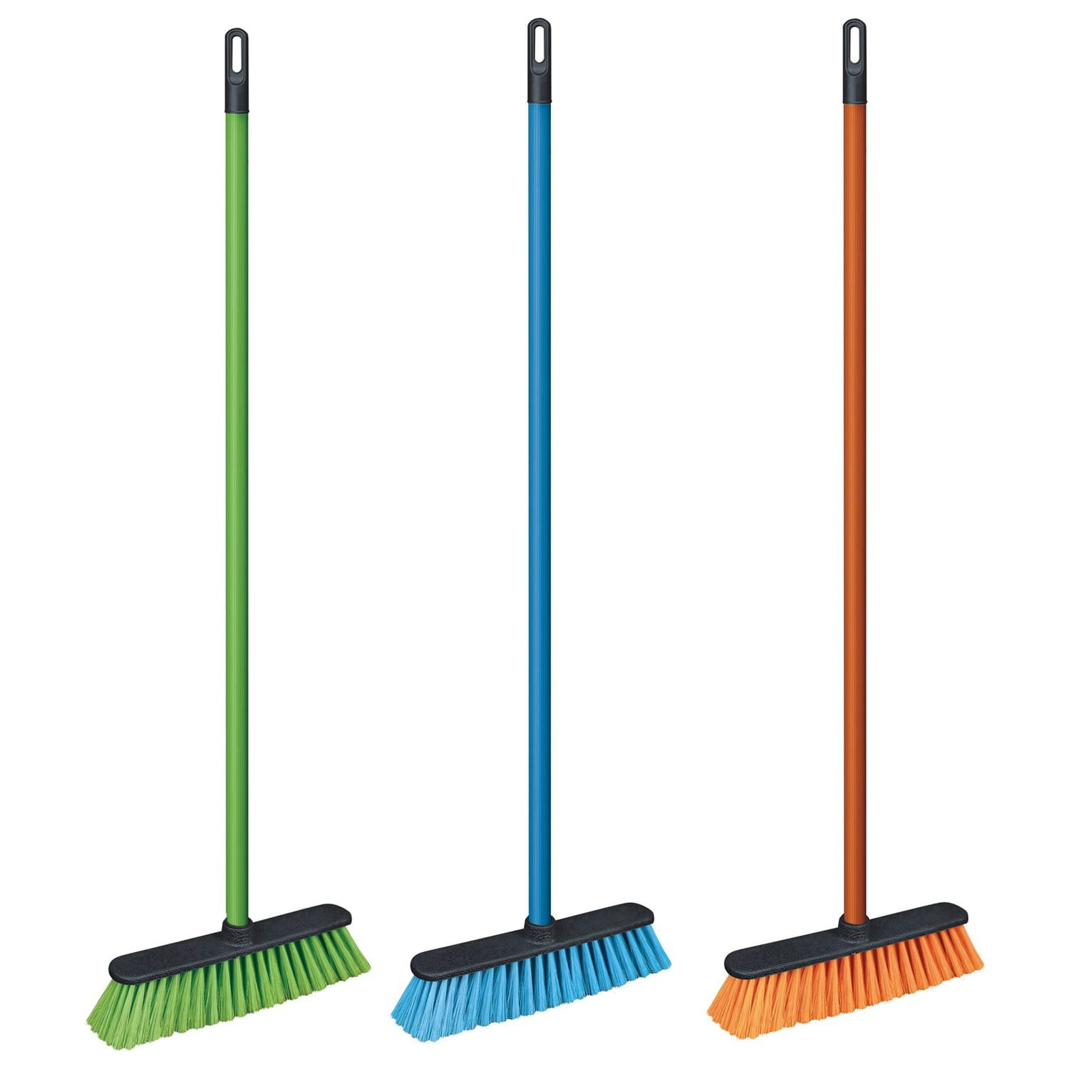 """YORK / Brush """"Centi"""" for cleaning with a handle 110 cm, width 31 cm, bristles 7 cm, plastic, euro thread"""