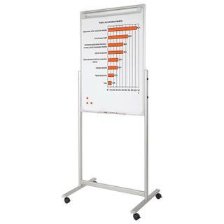 Whiteboard-flipchart magnetic marker (70х104 cm), bilateral, with peredily stand,