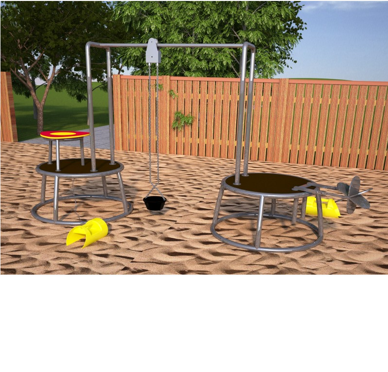 "Hercules / Mobile children's playground ""Station"", sand"