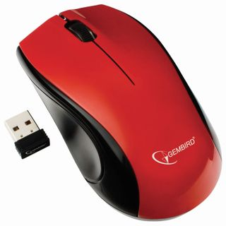 GEMBIRD / Wireless mouse MUSW-320-R, 2 buttons + 1 wheel-button, red