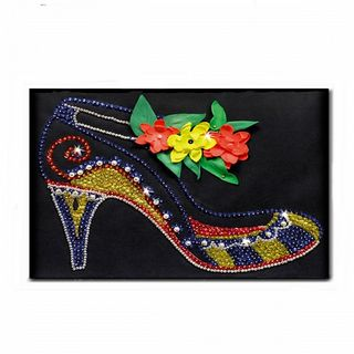"""Slipper"" set for creativity - a mosaic of sequins"