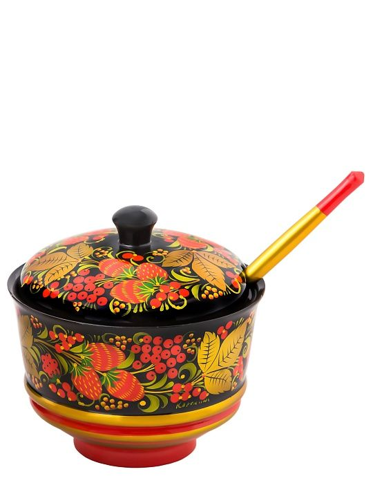 Sugar bowl with a spoon 110x120