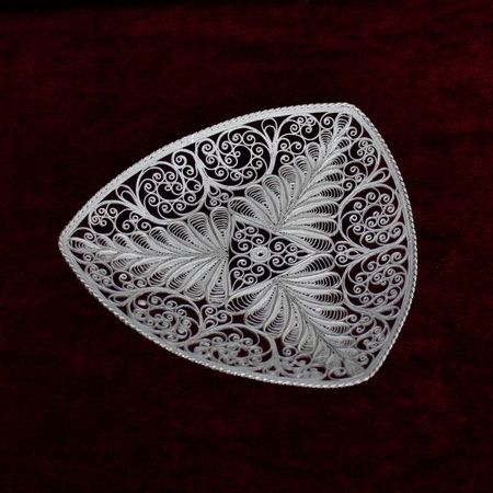 "Kazakov Filigree / Plate ""Your beloved"" silvering"
