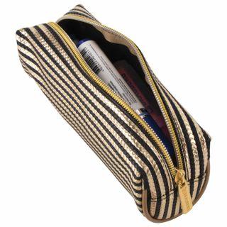 Pencil case-cosmetic bag BRAUBERG, soft, Royal, gold, 19х6х6 cm