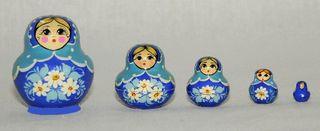 Vyatka souvenir / Painted matryoshka 5 pr.