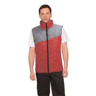 "Vest ""DOMBAY"" red with gray"