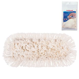 LIME / MOP attachment flat for mop / holder 40 cm, ears / pockets (TYPE U / C), cotton 4.5 cm, packaging
