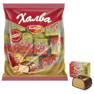 ROT FRONT / Halva in chocolate, package 400 g