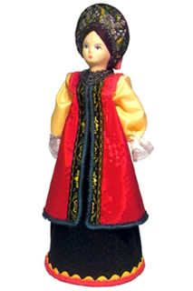 Doll gift porcelain. Russia. Maiden costume. Late 19th - early 20th century.