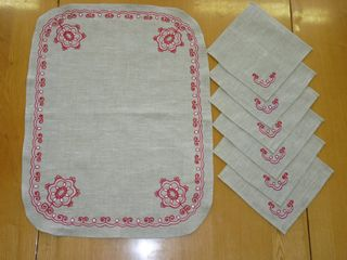 A set of napkins Karelian patterns 58х44, 20x20 cm