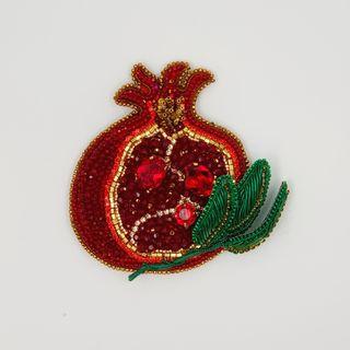Brooch Garnet. Handmade