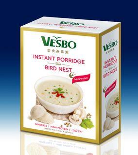 Brown Rice Porridge with Bird Nest (Mushroom ) Taste