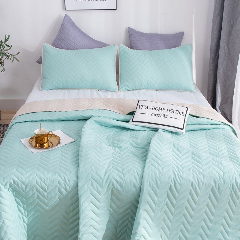 Citrade / Set one-color double-sided bedspread and two pillowcases 50-70, ODP004