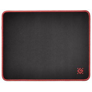 DEFENDER / Gaming mouse pad Black M, fabric + rubber, 360x270x3 mm, black